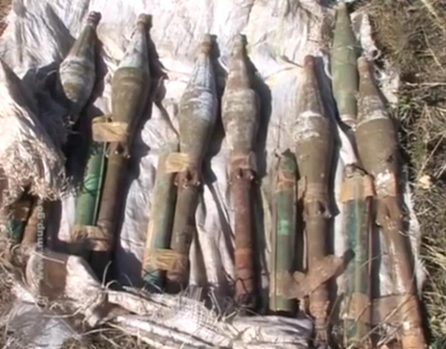 Уништене мине, гранате, ракета и бомба