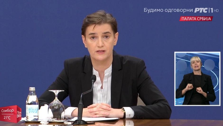 Брнабић: Отказаћемо све концерте, сутра седница Кризног штаба о оштријим мерама, не размишљамо о обавезној вакцинацији