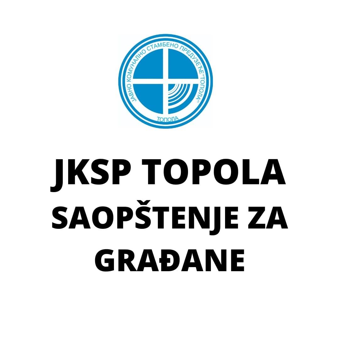"""ЈКСП """"Топола"""":  Једини пут за ЈКСП """"Топола"""" је да буде политички неутрално предузеће, у служби свих грађана"""