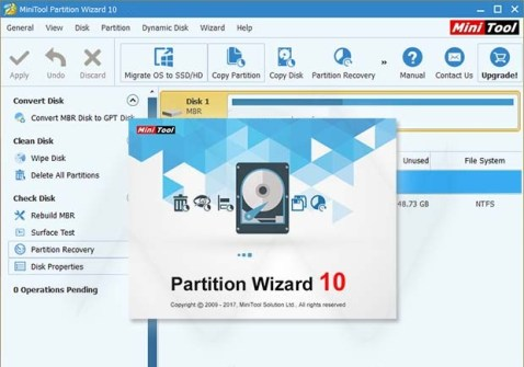 MiniTool Partition Wizard Free 11 Crack With Serial Key 2019 Setup