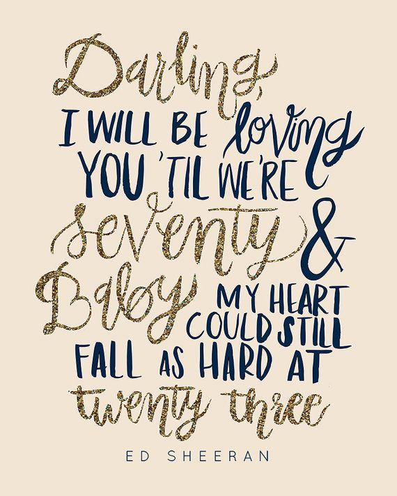 Quotes About Love Thinking Out Loud Lyrics Darling I