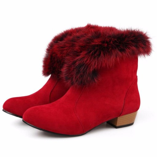 petite size 3 ankle boots red