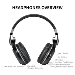 bluedio t2s (turbine 2 shooting brake) bluetooth stereo headphones wireless headphones with microphone, 57mm drivers/rotary folding