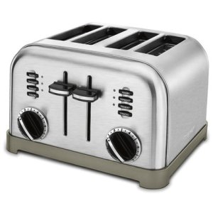 cuisinart cpt-180 metal classic 4-slice toaster brushed stainless