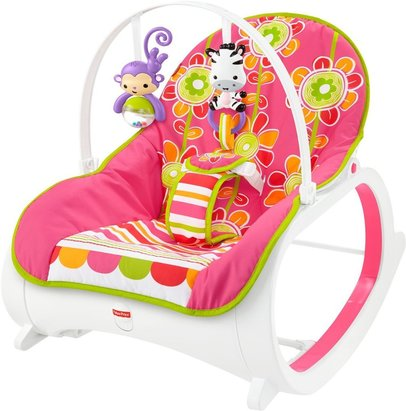 fisher price infant to toddler rocker floral confetti bouncer