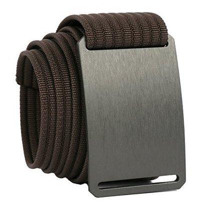 grip6 belts adjustable nylon aluminium no holes men's classic belt tiger-30-fba