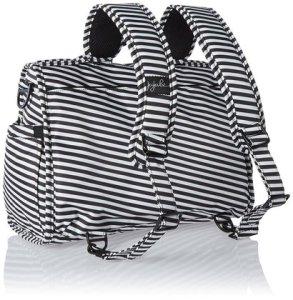 ju-ju-be onyx collection b.f.f. convertible diaper bag black magic