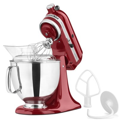 kitchenaid ksm150pser artisan tilt-head stand mixer with pouring shield 5-quart empire red