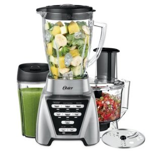 oster pro 1200 plus' blender 3-in-1 with food processor attachment and xl personal blending cup
