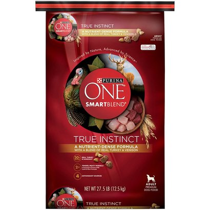 purina one smartblend true instinct with real turkey and venison adult dry dog food