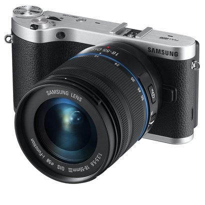 samsung nx300 20.3mp cmos smart wifi mirrorless digital camera with 18-55mm lens and 3.3 amoled touch screen