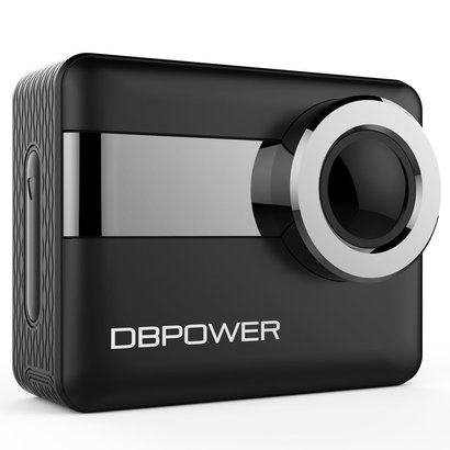 dbpower n6 k4 wifi sports action camera 2.31'' lcd touchscreen 170° wide-angle included 2 batteries and waterproof case