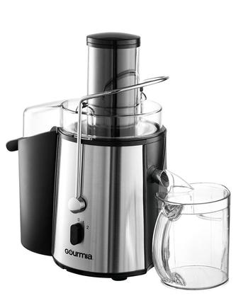 gourmia gj-750 wide mouth fruit extraction juicer 850 watts stainless steel centrifugal juicer includes free e-recipe book