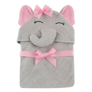 hudson baby animal face hooded towel 3D animal design 100% woven terry cotton