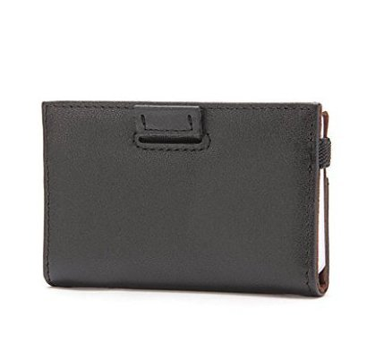 ipulse minimalist slim wallet with rfid protection-tokyo series full grain leather card holder case with elastic money clip band keeps 12 cards