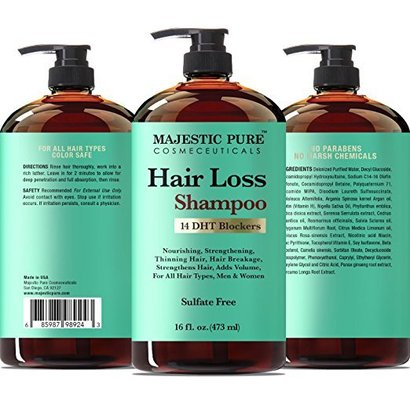 majestic pure hair loss shampoo for men and women with 14 broad spectrum dht blockers