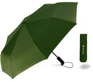 mcconnor travel windproof umbrella automatic open/close with ergonomic rubber handle lightweight and durable umbrella