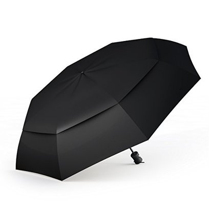 procella travel umbrella for smart women and men, premium windproof and compact umbrella for rain and uv protection, windproof tested by skydivers unbreakable at 60mph