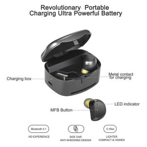 soundmoov true wireless earbuds, bluetooth earphones with charging, noise cancelling mini headphones for iphone, laptop, smartphones