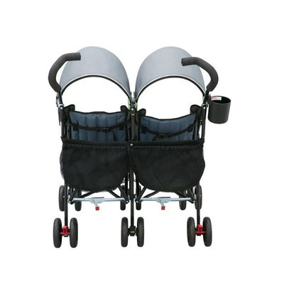 delta children lx side by side travel friendly stroller with large european style canopy and folding for easy storage