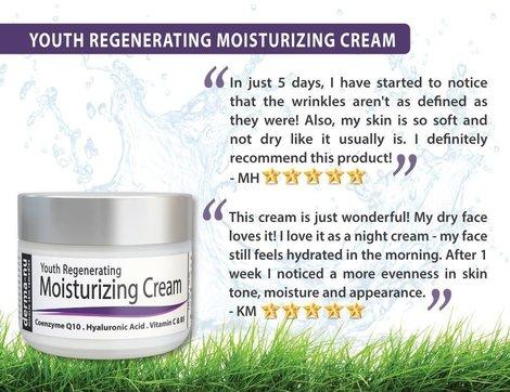 derma-nu miracle skin remedies - regenerating moisturizing treatment anti aging face cream with organic antioxidants