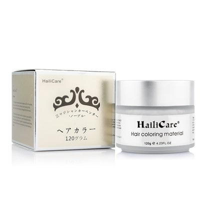 hailicare hair coloring material 100% natural instant hair color wax silver gray 4.23 oz