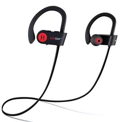 hopday bluetooth headphones u8 v4.1 wireless stereo earbuds with microphone waterproof sweatproof for running and exercising.