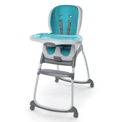 ingenuity smartclean trio 3-in-1 high chair with locking wheels and 5-point harness