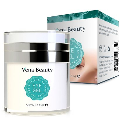 vena beauty natural eye gel for dark circles, anti wrinkles and puffiness
