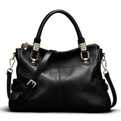 ainimoer vintage genuine leather tote shoulder bag crossbody handbag