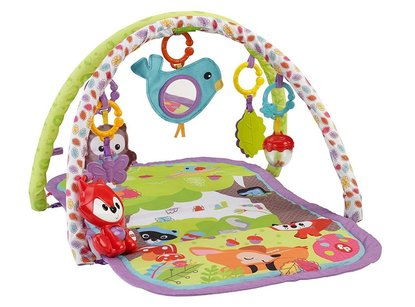 fisher-price 3-in-1 musical activity gym – woodland friends