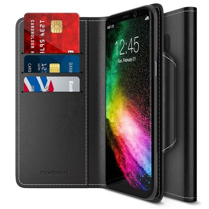 maxboost wallet case for samsung galaxy s8 plus/s8+ with card and money slots