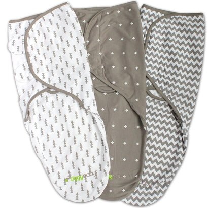ziggy baby 3 pack soft cotton swaddle blanket