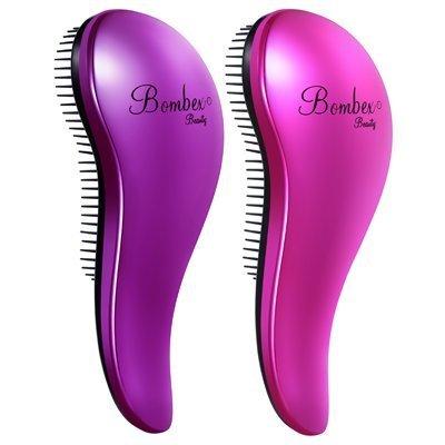 bombex beauty detangling hair brush with 250 teeth and ergonomic handle 2 piece hair brush set