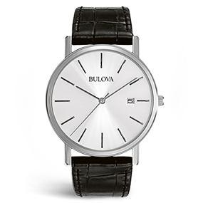 bulova men's classic strap watch 96b104