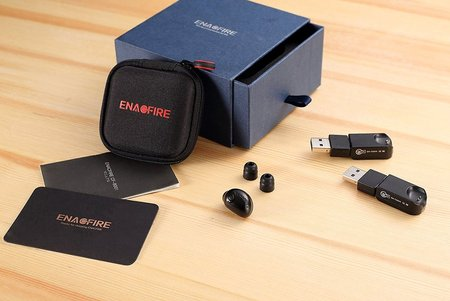 enacfire cf8001 bluetooth wireless earbud with 2 magnetic usb chargers and 6 hours playtime