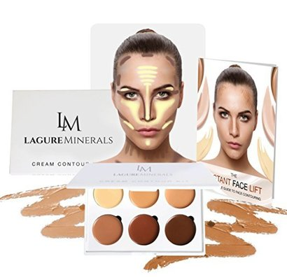 lagure minerals cream contour palette featuring 6 perfectly selected shades