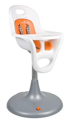 boon flair pedestal highchair with pneumatic lift for height adjustment