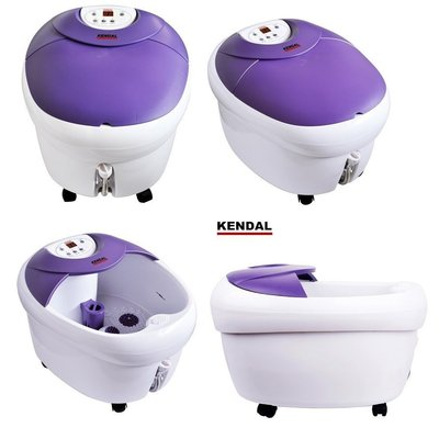 kendal fbd-720 foot massager with led display control, ptc heater, bubble, rolling and vibration massage
