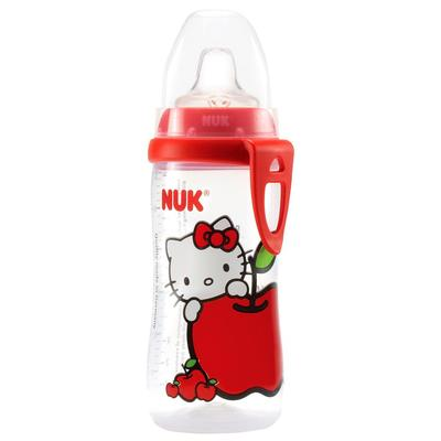 nuk hello kitty active cup with 100% silicone spout for babies of 12+ months
