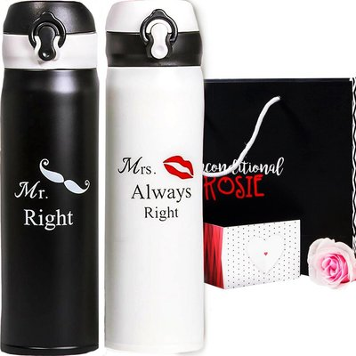 unconditional rosie matching set of two stainless steel thermo bottles includes card and beautiful box ready to give