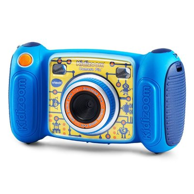 vtech 2.0mp, 4x digital zoom kidizoom camera pix with selfie mode and photo collage in blue color