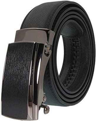 west leathers men's leather ratchet dress belt with automatic buckle in attractive gift box