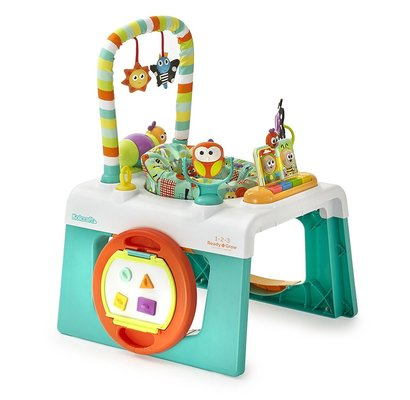 kolcraft 1-2-3 ready-to-grow activity center with 3 different stages and 12+ toys and developmental activities
