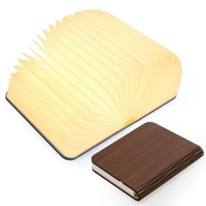 magicfly wooden folding usb rechargeable novelty book with 5 colors led night lights great gift idea for valentine's day