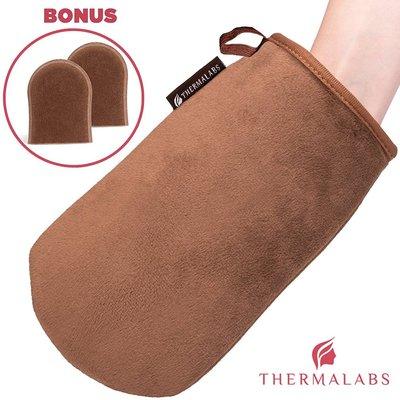 thermalabs ultimitt set luxury applicator mitt self tanning glove set free bonus finger exfoliator