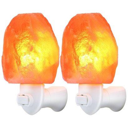 tomcare himalayan salt lamp with 360 degrees adjustable plug 2 pieces