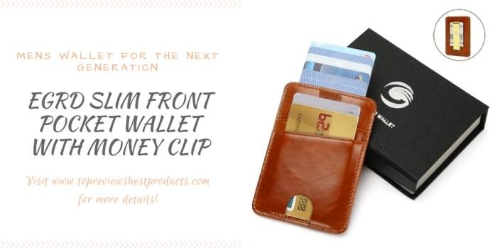 EGRD Slim Front Pocket Wallet with Money Clip
