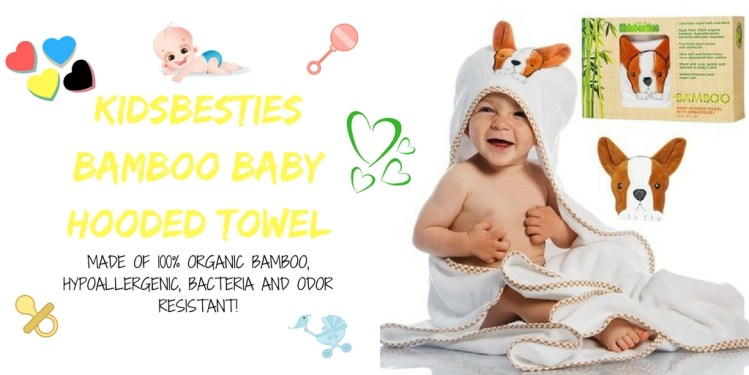 KIDSBESTIES Bamboo Baby Hooded Towel