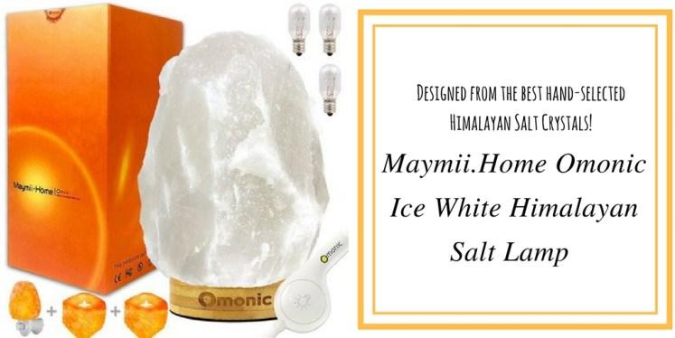 Maymii.Home Omonic Ice White Himalayan Salt Lamp